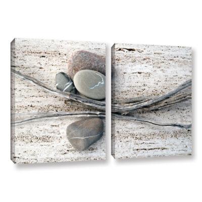 Brushstone Still Life Sticks Stones 2-pc. GalleryWrapped Canvas Wall Art