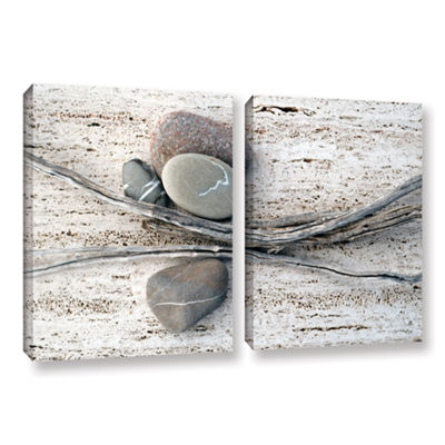 Brushstone Still Life Sticks Stones 2-pc. GalleryWrapped Canvas Wall Art