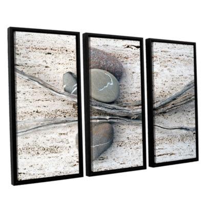 Brushstone Still Life Sticks Stones 3-pc. FloaterFramed Canvas Wall Art