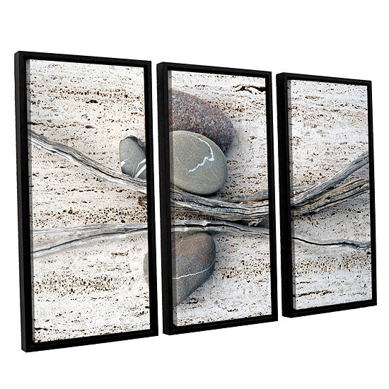 Brushstone Still Life Sticks Stones 3-pc. FloaterFramed Canvas Wall Art