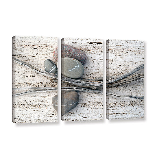 Brushstone Still Life Sticks Stones 3-pc. GalleryWrapped Canvas Wall Art