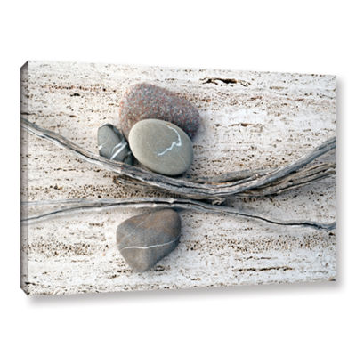 Brushstone Still Life Sticks Stones Gallery Wrapped Canvas Wall Art