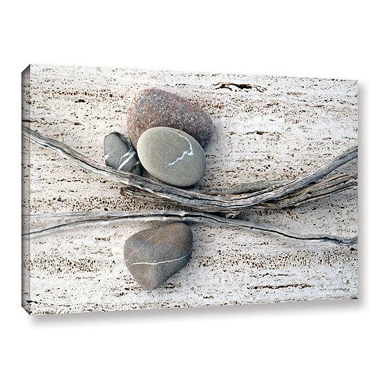 Brushstone Still Life Sticks Stones Gallery Wrapped Canvas Wall Art