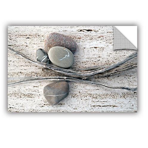 Brushstone Still Life Sticks Stones Removable WallDecal
