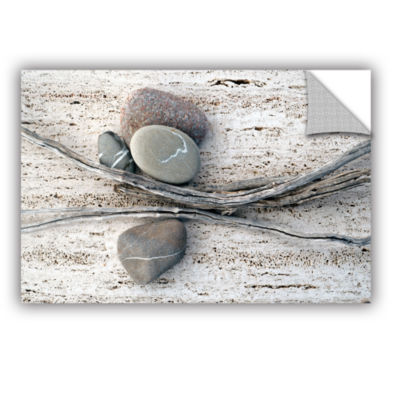 Brushstone Still Life Sticks Stones Removable WallDecal