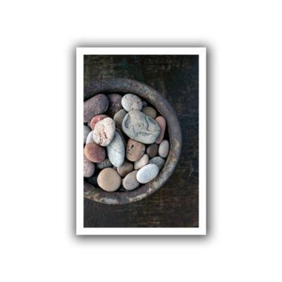 Brushstone Still Life Stone Bowl Canvas Wall Art