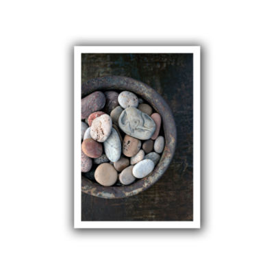 Brushstone Still Life Stone Bowl Canvas Wall Art