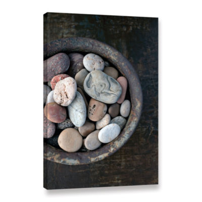 Brushstone Still Life Stone Bowl Gallery Wrapped Canvas Wall Art