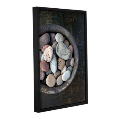 Brushstone Still Life Stone Bowl Gallery Wrapped Floater-Framed Canvas Wall Art