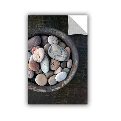 Brushstone Still Life Stone Bowl Removable Wall Decal