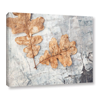 Brushstone Still Life Two Leaves Gallery Wrapped Canvas Wall Art