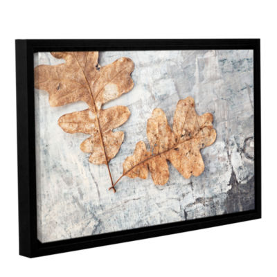 Brushstone Still Life Two Leaves Gallery Wrapped Floater-Framed Canvas Wall Art