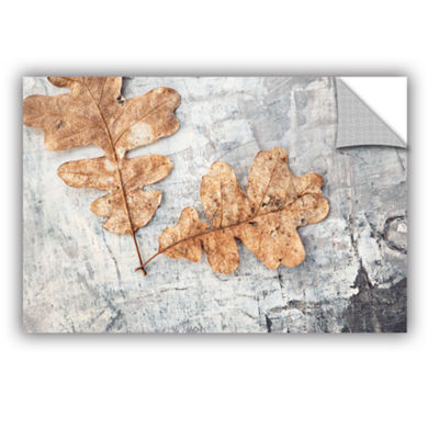 Brushstone Still Life Two Leaves Removable Wall Decal