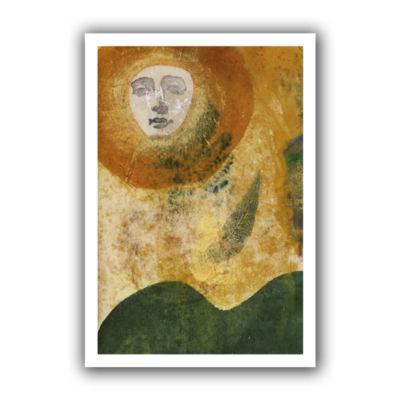 Brushstone Sun and Earth Canvas Wall Art