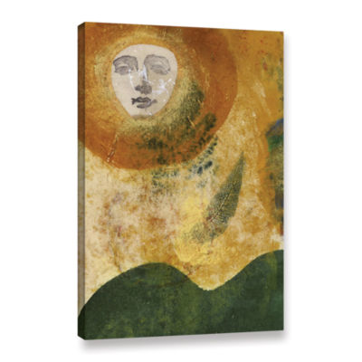 Brushstone Sun and Earth Gallery Wrapped Canvas Wall Art