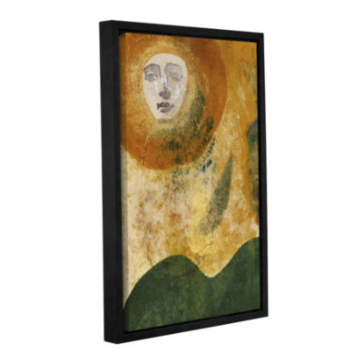 Brushstone Sun and Earth Gallery Wrapped Floater-Framed Canvas Wall Art