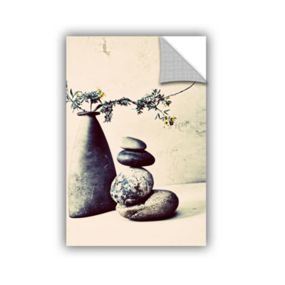 Brushstone Stones And Vase Removable Wall Decal