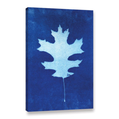 Brushstone Sun Print Of A Leaf Gallery Wrapped Canvas Wall Art