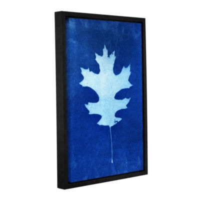 Brushstone Sun Print Of A Leaf Gallery Wrapped Floater-Framed Canvas Wall Art
