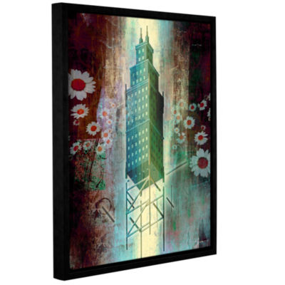 Brushstone Spring Time in the City Gallery WrappedFloater-Framed Canvas Wall Art