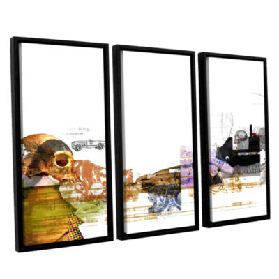Brushstone Stages 3-pc. Floater Framed Canvas WallArt