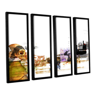 Brushstone Stages 4-pc. Floater Framed Canvas WallArt