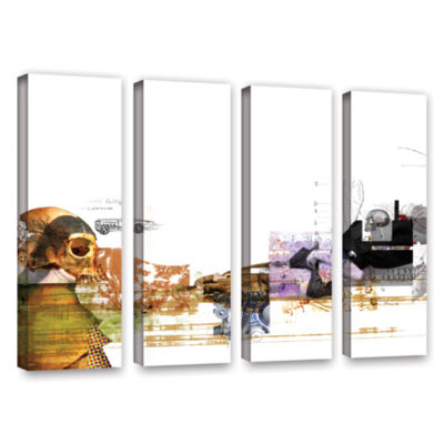 Brushstone Stages 4-pc. Gallery Wrapped Canvas Wall Art