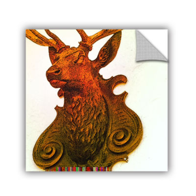 Brushstone Stag (Mounted) Removable Wall Decal