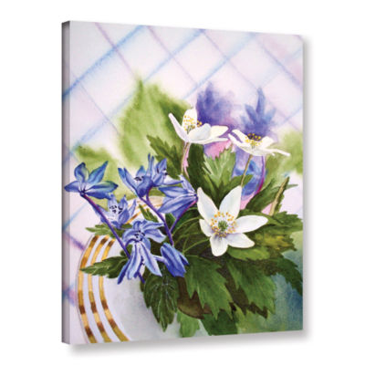 Brushstone Spring Flowers (lush) Gallery Wrapped Canvas Wall Art