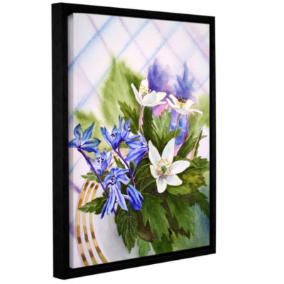 Brushstone Spring Flowers (lush) Gallery Wrapped Floater-Framed Canvas Wall Art