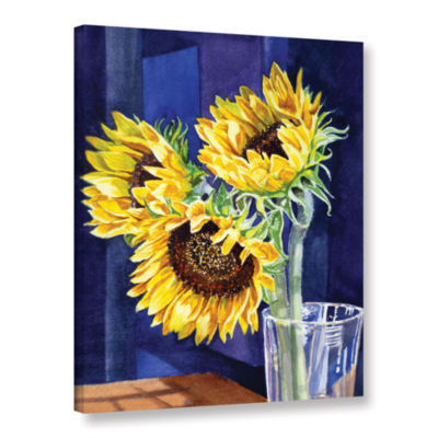 Brushstone Sunflowers 2 Gallery Wrapped Canvas Wall Art