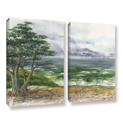 Brushstone Stormy Morning Carmel By The Sea 2-pc.Gallery Wrapped Canvas Wall Art