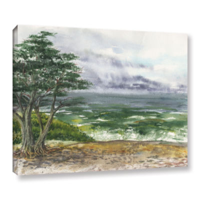 Brushstone Stormy Morning Carmel By The Sea Gallery Wrapped Canvas Wall Art