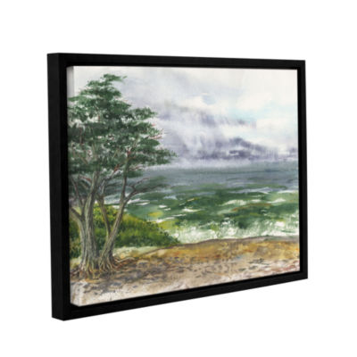 Brushstone Stormy Morning Carmel By The Sea Gallery Wrapped Floater-Framed Canvas Wall Art