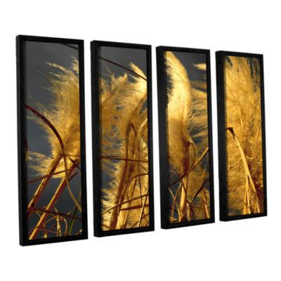 Brushstone storm swept 4-pc. Floater Framed CanvasWall Art