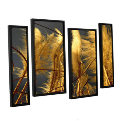 Brushstone storm swept 4-pc. Floater Framed Staggered Canvas Wall Art