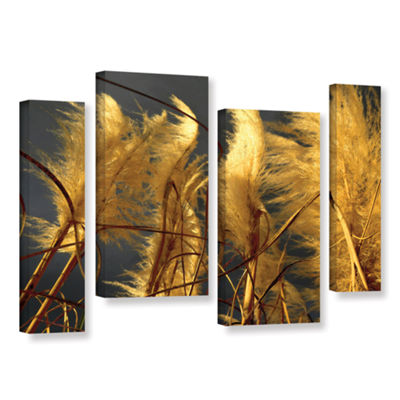 Brushstone storm swept 4-pc. Gallery Wrapped Staggered Canvas Wall Art