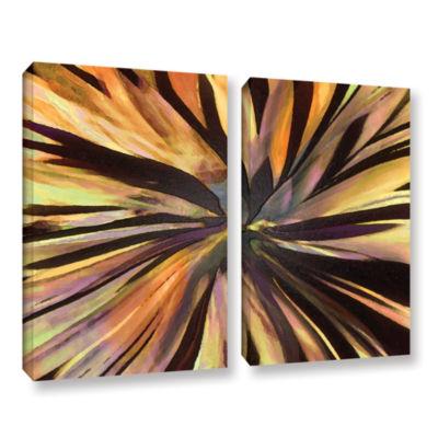 Brushstone Suculenta Paleta 2-pc. Gallery WrappedCanvas Wall Art