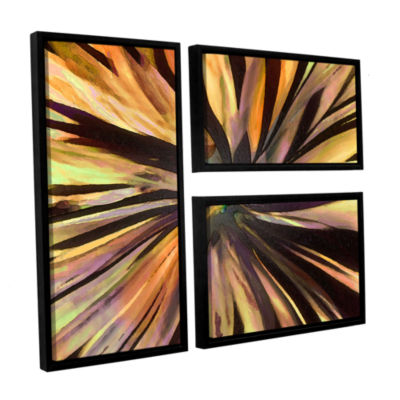 Brushstone Suculenta Paleta 3-pc. Flag Floater Framed Canvas Wall Art