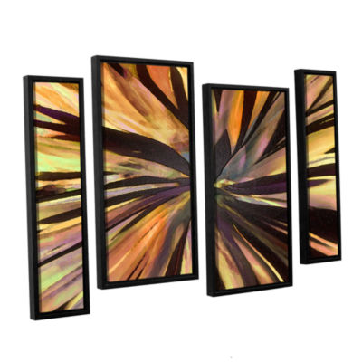 Brushstone Suculenta Paleta 4-pc. Floater Framed Staggered Canvas Wall Art