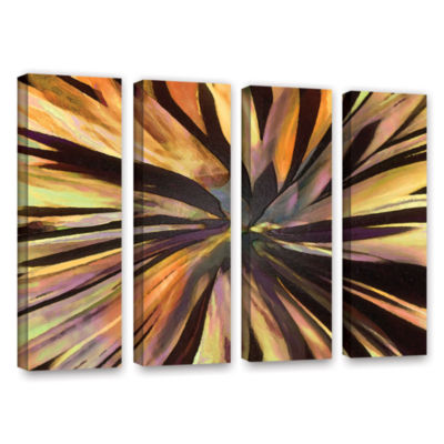 Brushstone Suculenta Paleta 4-pc. Gallery WrappedCanvas Wall Art
