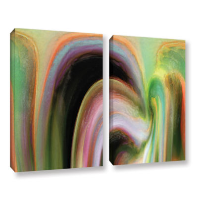 Brushstone Suculenta Polar 2-pc. Gallery Wrapped Canvas Wall Art