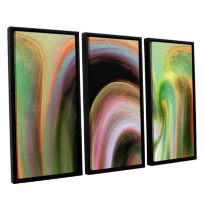 Brushstone Suculenta Polar 3-pc. Floater Framed Canvas Wall Art