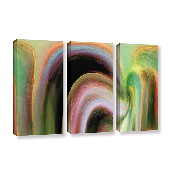 Brushstone Suculenta Polar 3-pc. Gallery Wrapped Canvas Wall Art