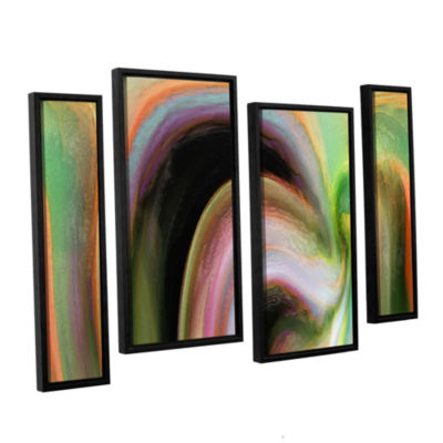 Brushstone Suculenta Polar 4-pc. Floater Framed Staggered Canvas Wall Art