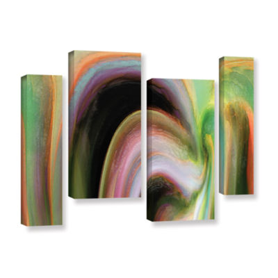 Brushstone Suculenta Polar 4-pc. Gallery Wrapped Staggered Canvas Wall Art