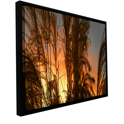 Brushstone Summer Grass Gallery Wrapped Floater-Framed Canvas Wall Art