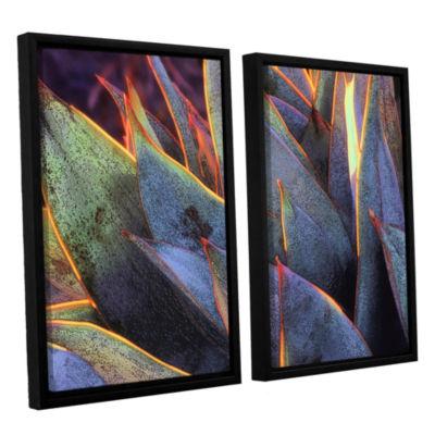 Brushstone Sun Succulent 2-pc. Floater Framed Canvas Wall Art