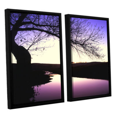 Brushstone Squaw Valley Twilight 2-pc. Floater Framed Canvas Wall Art