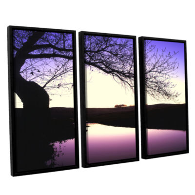 Brushstone Squaw Valley Twilight 3-pc. Floater Framed Canvas Wall Art